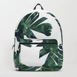 Banana Leaf Watercolor #society6 #buy #decor Backpack