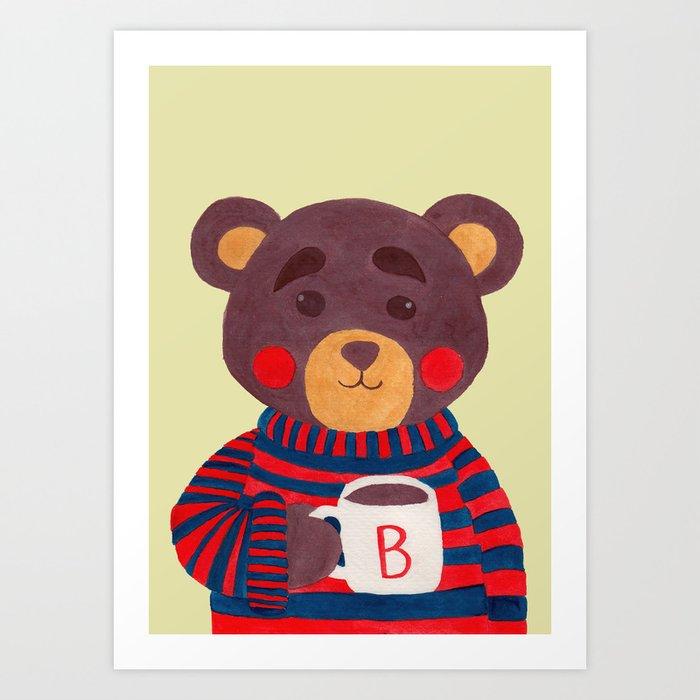 Winter Season is Coming (Bear Version) Art Print