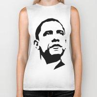 obama Biker Tanks featuring barak obama by b & c
