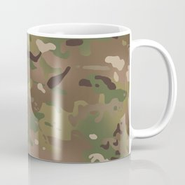 Military Woodland Camouflage Pattern Coffee Mug
