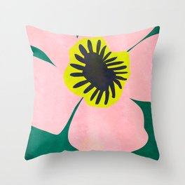 Pink Bloom No 01 Throw Pillow