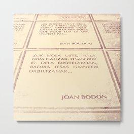 Joan Bodon [1] Metal Print