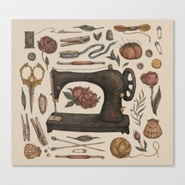 Sewing Collection Canvas Print