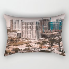 Biscayne buildings Rectangular Pillow