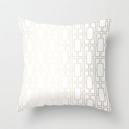 Simply Mid-Century in White Gold Sands Throw Pillow