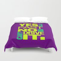 subaru Duvet Covers featuring Yes it's fast No you can't drive it v7 HQvector by Vehicle
