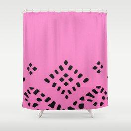 Pink Geo Shower Curtain