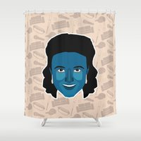 seinfeld Shower Curtains featuring Elaine Benes - Seinfeld by Kuki