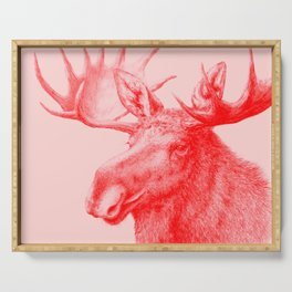 Moose red Serving Tray