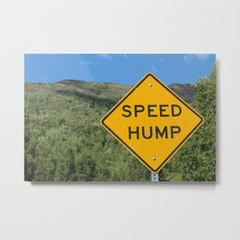 Speed Hump Metal Print