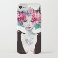moth iPhone & iPod Cases featuring Moth by Yoalys