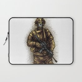 Soldier | War Weapon Defense Attack Military Gift Laptop Sleeve