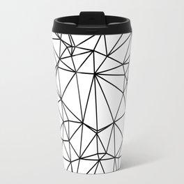 Random delaunay triangulation - white Travel Mug