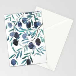 black olive watercolor 2018 Stationery Cards