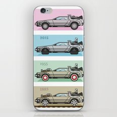 Back to the Future - Delorean x 4 iPhone & iPod Skin