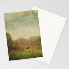 Idyllic painterly fall morning Stationery Cards