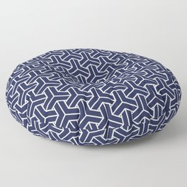 Japanese Yukata Jinbei Bishamon Navy pattern Floor Pillow
