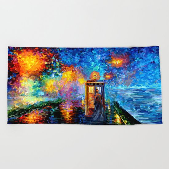 The 10th Doctor who Starry the night Art painting iPhone 4 4s 5 5c 6, pillow case, mugs and tshirt Beach Towel