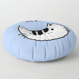 Mew Cat drawing Floor Pillow