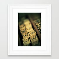 letters Framed Art Prints featuring Letters by Jean-François Dupuis