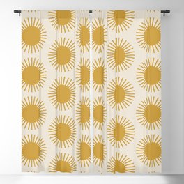 Golden Sun Pattern Blackout Curtain