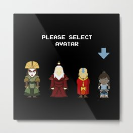 Avatar Selection Screen Metal Print