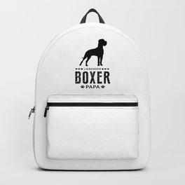 Boxer Dad German Boxer Dog Lover Dog Owner Backpack