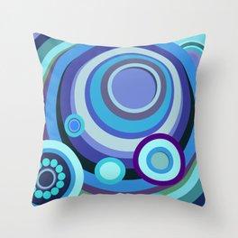 Blue/Purple Mosaic Crop Circle Throw Pillow