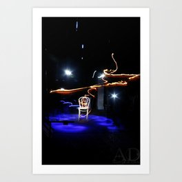 The dance of lights  Art Print