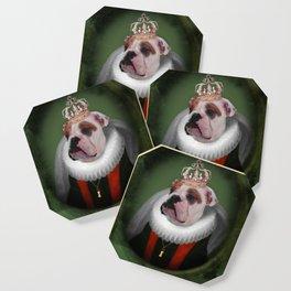 English Bulldog Art - Lucy Coaster
