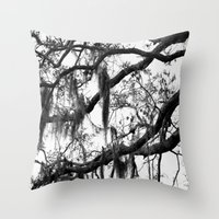 spanish Throw Pillows featuring Spanish Moss by MorganLoriPhoto