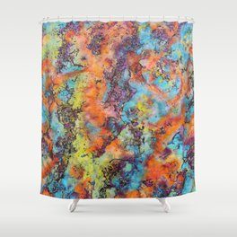 Playing colors Shower Curtain