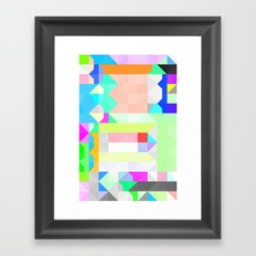 All As One Pattern Framed Art Print