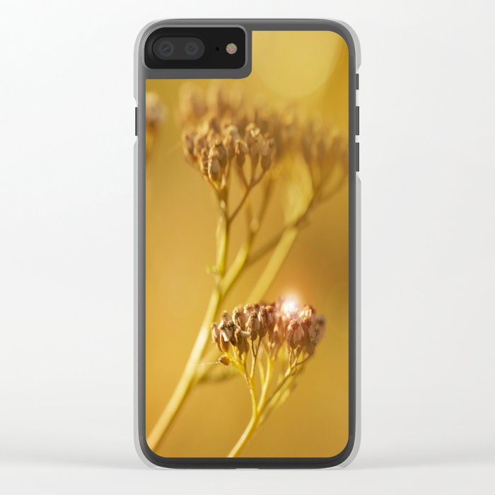 Autumn wildflowers in forest #decor #buyart #society6 Clear iPhone Case