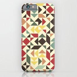 Christmas geometric pattern iPhone Case