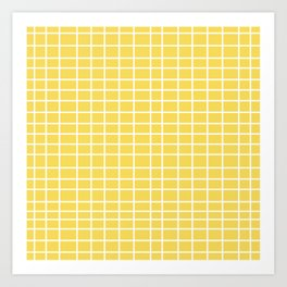 Squares of Yellow Art Print