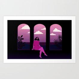 Mediterranean Summer Night Art Print