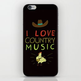 country music iPhone Skin