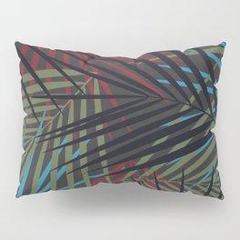 Tropical Palm Fronds Pattern Pillow Sham