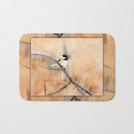 Joys Are My Wings Chickadee Art Bath Mat