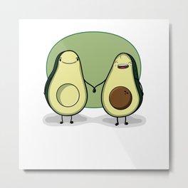 Pregnant avocados Metal Print