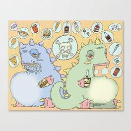Bubble Blues Canvas Print