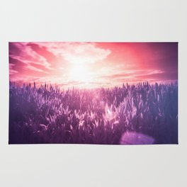 Red Sun, Purple Dream Rug