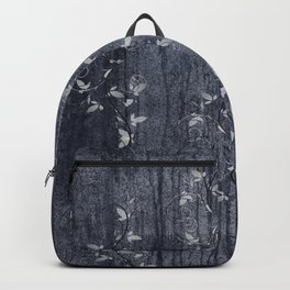 Flower Vines and Concrete Grunge Backpack