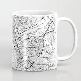 Nantes Map White Coffee Mug