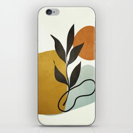 Soft Abstract Small Leaf iPhone Skin