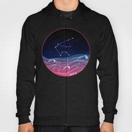 Aquarius Zodiac Constellation Design Hoody