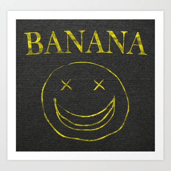 Banana Smile Art Print