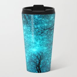 Black Trees TEAL SPACE Travel Mug