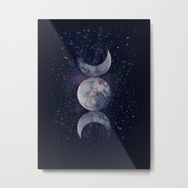Shining Lunar Symbol Metal Print